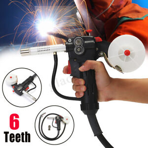 6FT MIG Welder Spool Gun Push Pull Feeder Aluminum Welding Torch & 2m Wire Cable