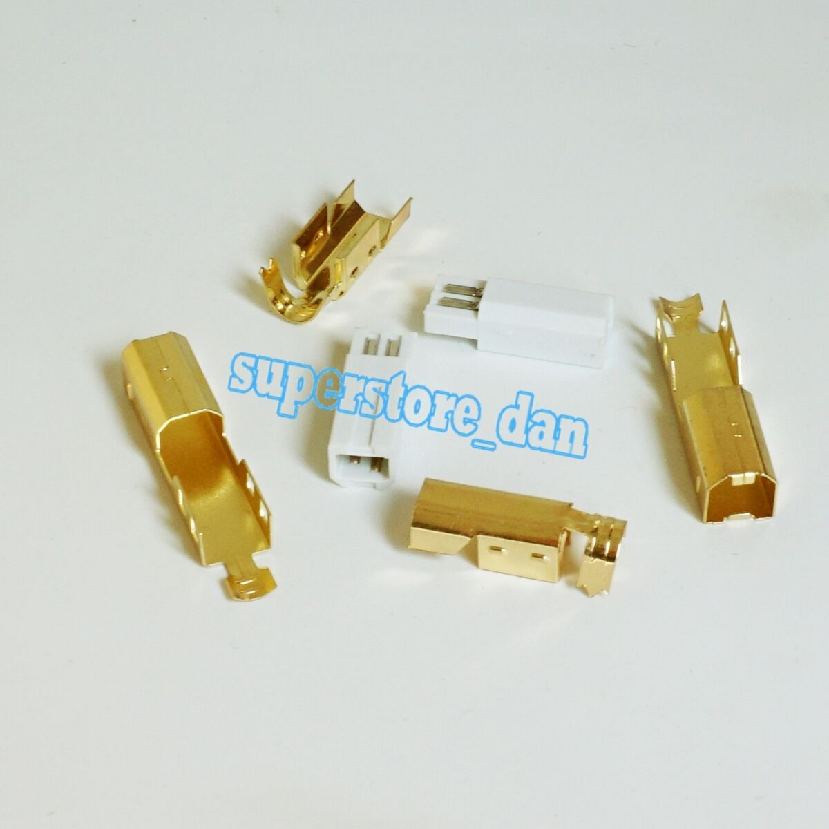 10X Mini USB Male 5 Pin Socket Pin 3-Pieces Metal cover Types Plug Connector