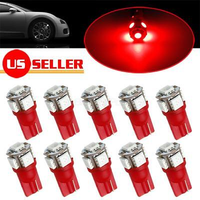 10x RED Interior Dome Map Lights 5050 5-SMD LED T10 194 168 Lamps for Dodge