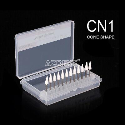 Dental Cone White Stone Polishing Fg Burs 12kit Abrasion Points Polishers
