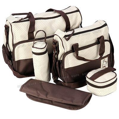 5 teile Wickeltasche Babytasche Pflegetasche Tragetasche Tasche Neu