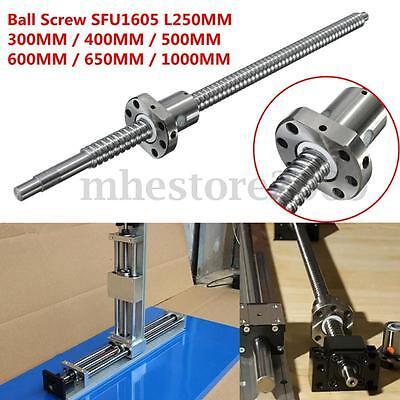 Ball Screw C7sfu1605 L2503004005006006501000mm W Single Ballnut For Cnc