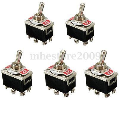5x Water Proof 10a 250v Dpdt Car Dash Light Toggle Switches Onon 2pins Control