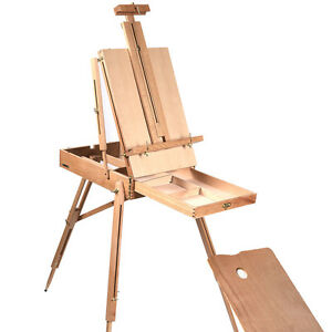 French Easel Wooden Sketch Box Portable Folding Durable Artist Painters Tripod