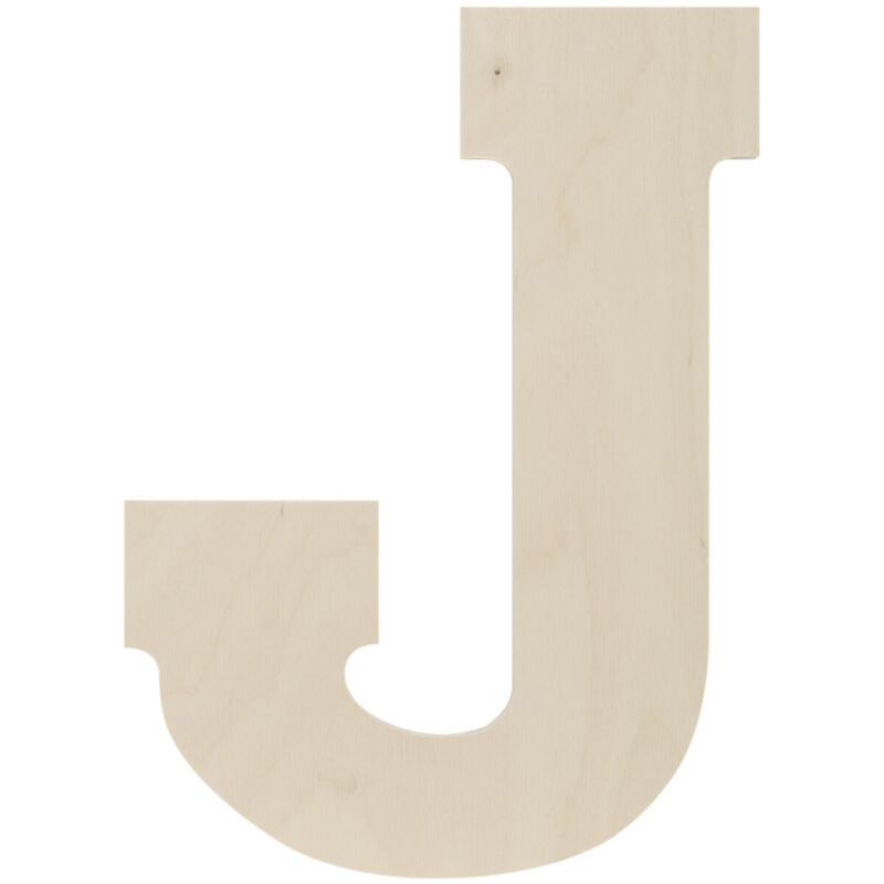 """Baltic Birch Collegiate Font Letters & Numbers 13""""-J"""