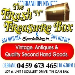 "GRAND OPENING SHED SALE SAT10th & 11th DEC THE TRASH ""n"" TREASURE BOX Tin Can Bay Gympie Area Preview"