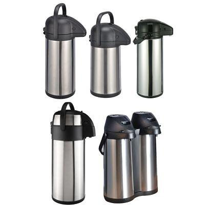 Pumpkanne Thermo Kanne Isolierkanne Airpot Kaffeekanne Isolierflasche Edelstahl ()