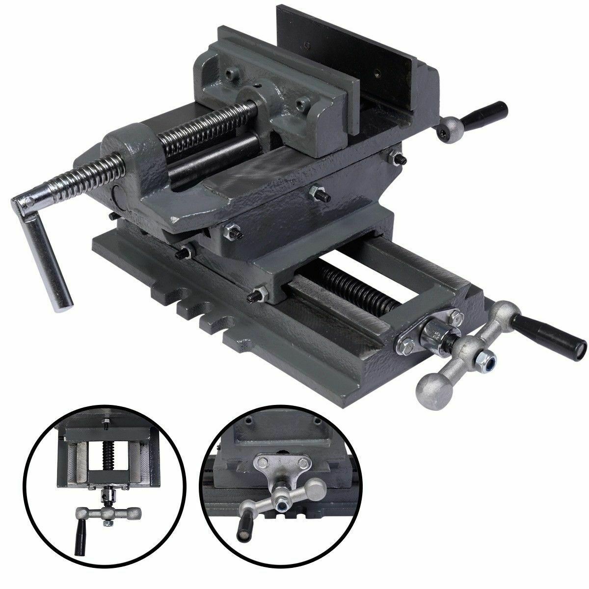 "New 5"" Cross Drill Press Vise X-Y Clamp Machine Slide Metal"