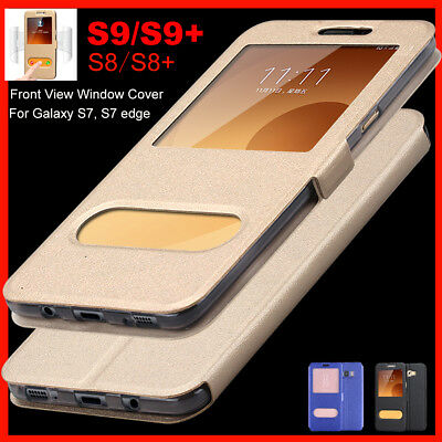 Samsung Galaxy S9 Note8, S8/S8+ Flip Leather Wallet View Window Skin Case Cover Leather Flip Skin Case