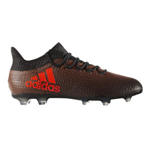 1bdb64d77fb Football BOOTS Shoes adidas Cleats X 17.2 FG Techfit Black Orange ...