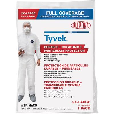 Dupont Tyvek Full Coverage Painters Coveralls 2x Large