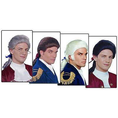Colonial Wig for Adult Mens 18th Century Costumes Fancy Dress