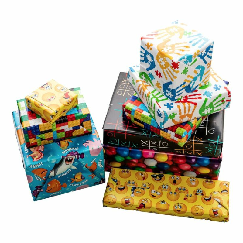 "12 Sheets Cobble Creek 20x30"" Birthday Flat Wrap Wrapping Paper"