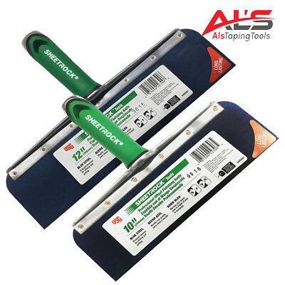 Usg Sheetrock Drywall Offset Taping Knife Combo - 10 12 Blue Steel - New