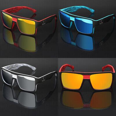 Oversized Square Thick Bold Frame Men Women Sports Mirrored Sunglasses Flat (Top Sports Sunglasses)