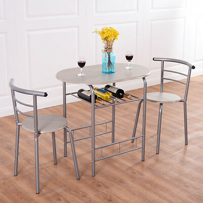 سفرة جديد 3 Piece Dining Set Table 2 Chairs Bistro Pub Home Kitchen Breakfast Furniture