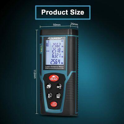 Floureon Laser Measure 40m131ft Laser Distance Meter With Bubble Level Digital
