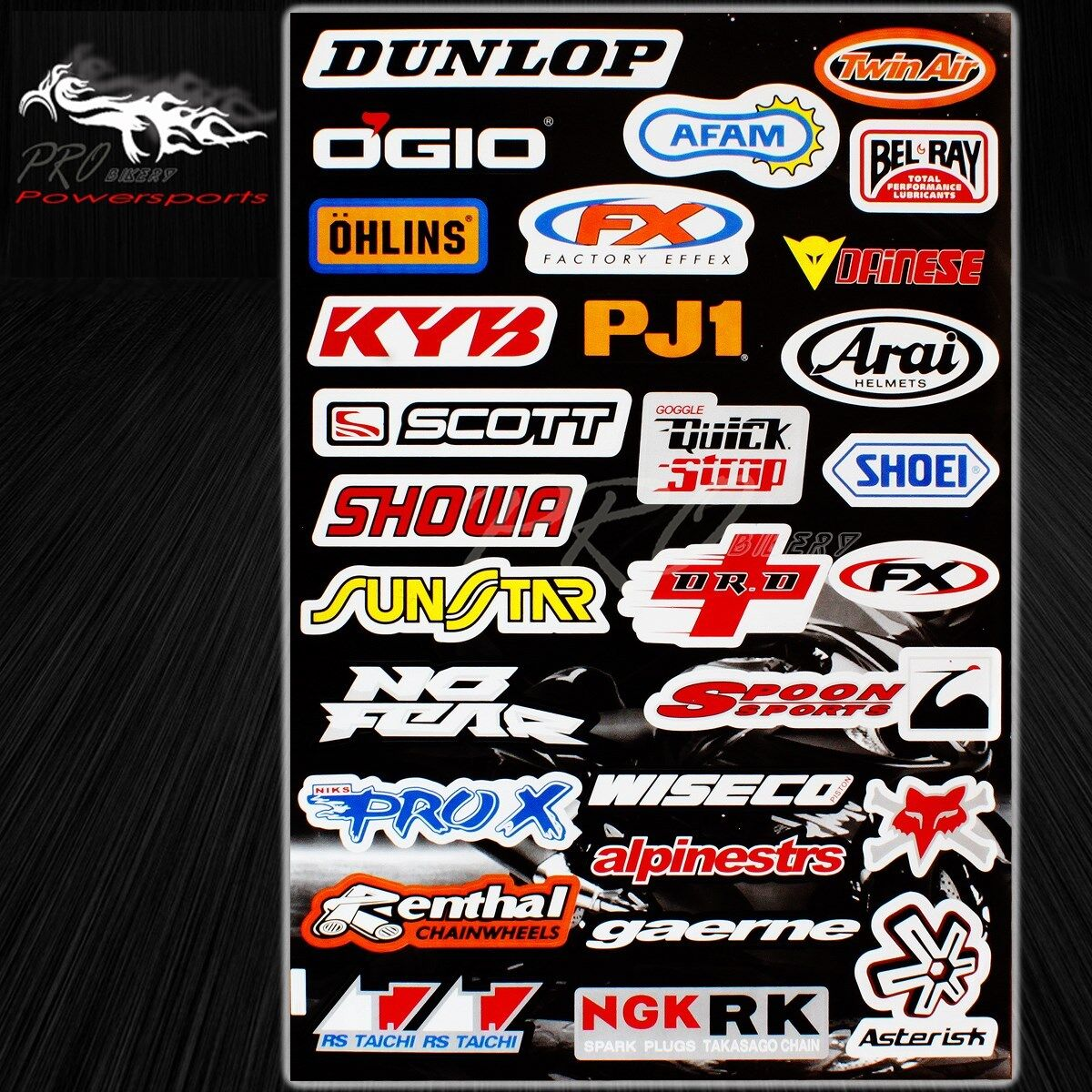 Details About Automotive Sponsor Logo Decal Sticker Motorcycledirt Bikecarjet Skihelmet