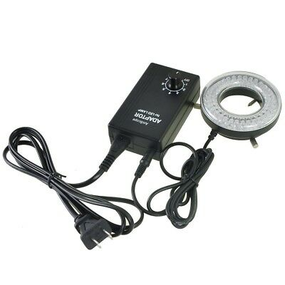 Amscope Adjustable 64-led Ring Light For Microscopes W Control Box 100v To 240v