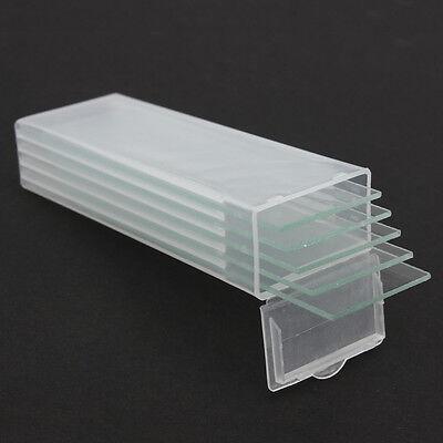 5 Pcs Reusable Laboratorial Single Microscope Blank Double Flat Slides