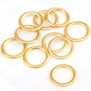10x SMALL HOLLOW PLASTIC BRASS 13mm CURTAIN RINGS Hoops Upholstery Loops Gliders