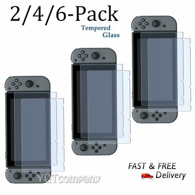 Nintendo Switch Premium Tempered Ultra Clear Glass Screen Protector (2/4/6 Pack)