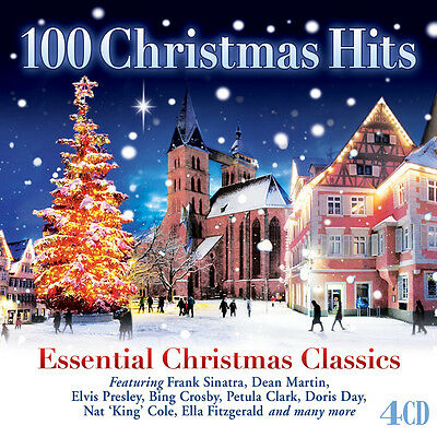 100 Christmas Hits ESSENTIAL CLASSIC HOLIDAY SONGS Ultimate Best MUSIC New 4 CD ()