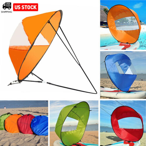 """42"""" Portable PVC Downwind Wind Paddle Instant Popup Board Sail Kayak Accessories"""