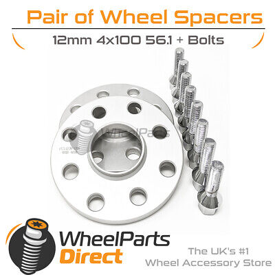 MINI Cooper /&S 2006-14 4x100 Hubcentric Spacers 25mm Wide 56.1CB Wheel Bolts UK