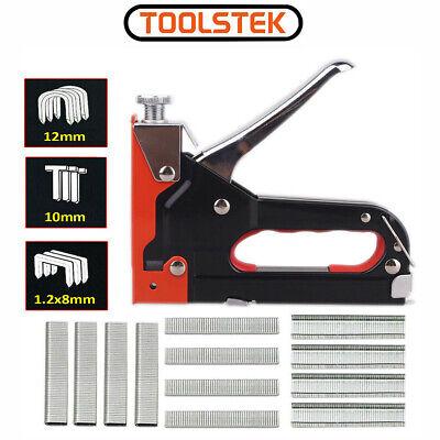 Heavy Duty Tacker Staple Gun 8/10/12mm Upholstery Stapler With 600 Staples Metal