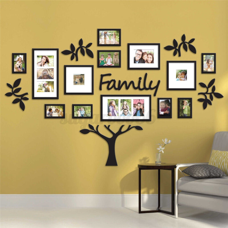 Family Photo Frame Tree Picture Collage Wall Art Hanging Home Decor Wedding Gift