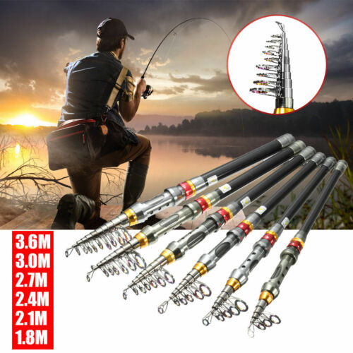 Carbon Fiber Telescopic Fishing Rod Sea Saltwater Freshwater