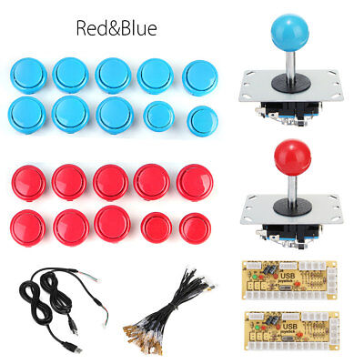 Arcade DIY Replace Part Kits USB Cabinet For MAME Controller & 20 Push Buttons  ()