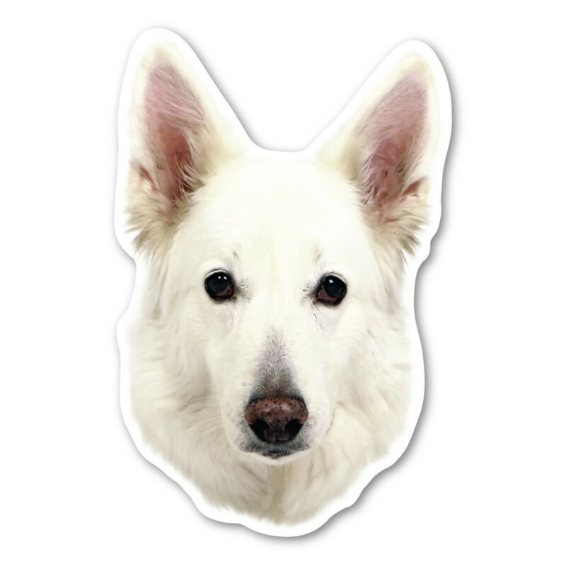 (White) German Shepherd Magnet