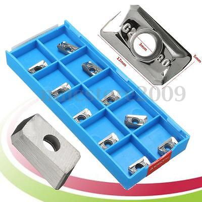 10pcs Apkt1135pdfr Carbide Inserts Cnc Milling Lathe Tool For Aluminum Cutting