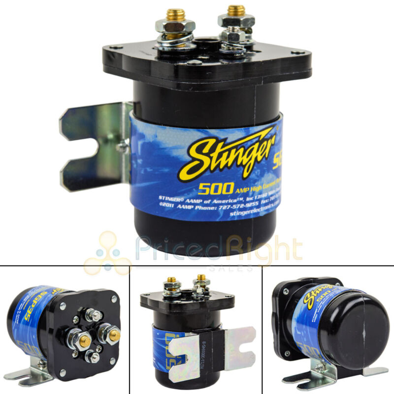 Stinger SGP35 High Current Power Relay Battery Isolator 500 Amps Car Audio New
