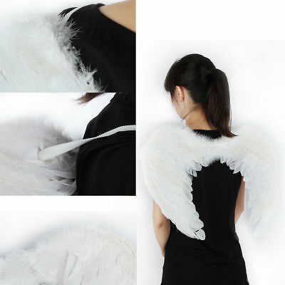 Christmas Xmas White Feather Angel Wings For Kid Child Party Cosplay Costume (Kid Wings)