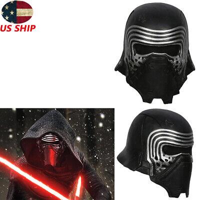 Kylo Ren Cosplay Mask Star Wars Costume Prop Replica Helmet Halloween Black Men