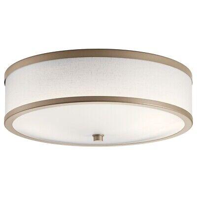 """Kichler 10820CP 16"""" Wide 2 Light Flush Mount Ceiling Fixture"""
