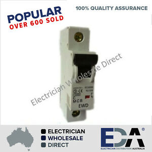 Circuit Breaker 10KA 10A, 16A, 20A, 25A, 32A, 40A, 50A, 63 Amp For Switchboards