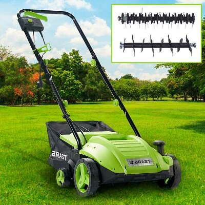 BRAST Elektro Vertikutierer Rasenlüfter 1500 Watt Kombi Gerät Moosentferner
