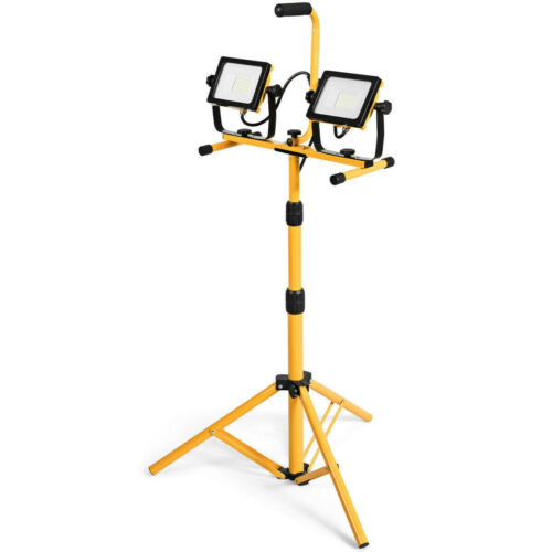60W 6000 lm LED Work Light with Metal Tripod Stand Tools & W