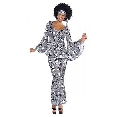 Disco Costume Adult 70s Halloween Fancy Dress