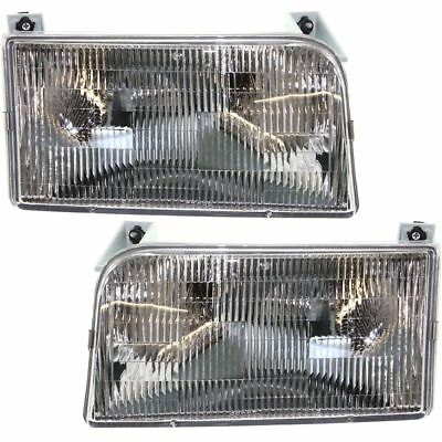 DAMON ULTRASPORT 1995 1996 1997 PAIR FRONT HEAD LIGHTS LAMP RV MOTORHOME
