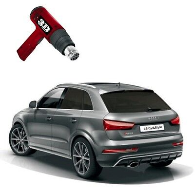 3D-vorgewölbt Tönungsfolie passgenau tiefschwarz 95% Mercedes GLK X204 2008-2015