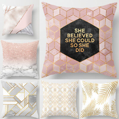 18'' Fashion Family short plush Pillow Case Sofa Cushion Cover Home Decor