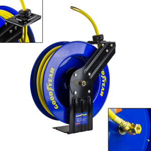 Goodyear Steel Retractable Air Compressor Hose Reel 3/8