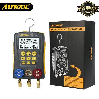 New Autool Digital Manifold Meter Hvac Gauge Vacuum Pressure Temperature Leakage