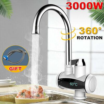 360 ° Grifo eléctrico Calentador de grifo Agua caliente Cocina instantánea Baño