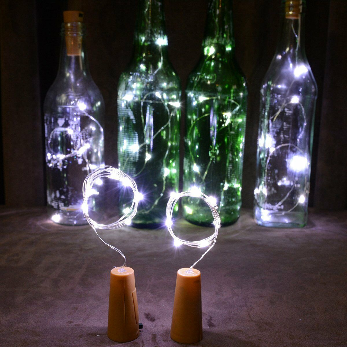 20 30 50 Led Wine Beer Bottle Cork Fairy Lights Gold Wire